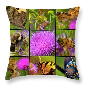 Little Guys  Throw Pillow by Betsy Knapp