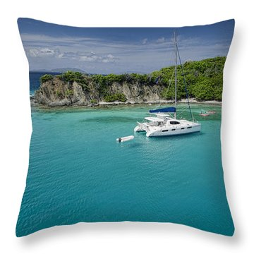 Little Harbor, Peter Island Throw Pillow