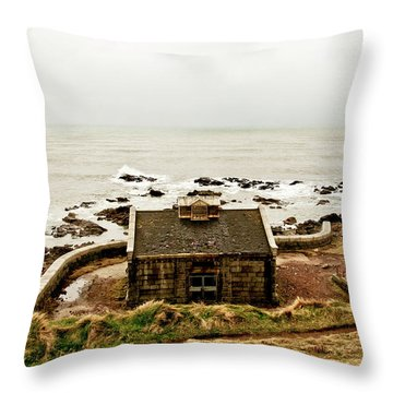 Little House At The Nigg Bay. Throw Pillow