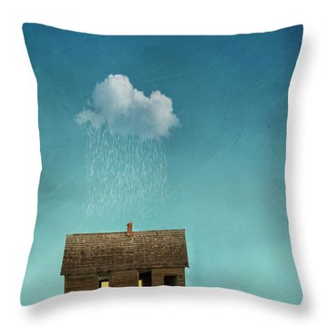 Throw Pillow featuring the photograph Little House Of Sorrow by Juli Scalzi