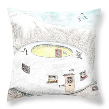 Little House On A Pot Throw Pillow