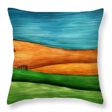Little House On Hill Throw Pillow