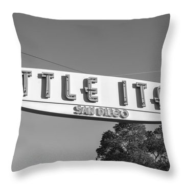 Little Italy Monochrome Throw Pillow