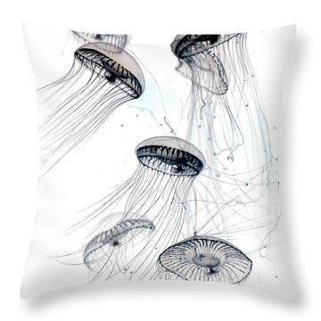 Little Jellyfish 2 Throw Pillow