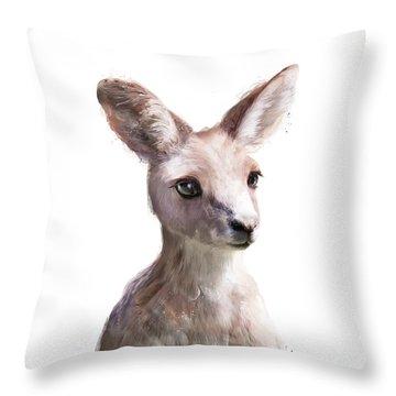 Little Kangaroo Throw Pillow