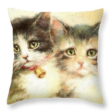 Little Kittens Throw Pillow