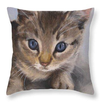 Little Kitty Throw Pillow