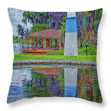 Throw Pillow featuring the photograph Little Lake Lightouse by Lewis Mann
