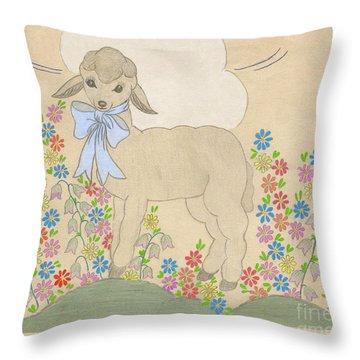 Little Lamb Lightened Throw Pillow