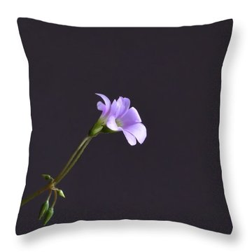 Little Lavender Flowers Throw Pillow