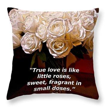 Little Love Roses Throw Pillow