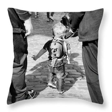 Little Man Throw Pillow