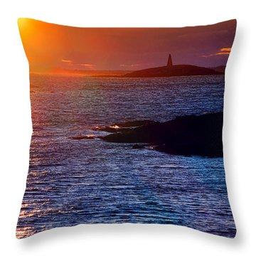 Little Mark Island At Sunset Throw Pillow