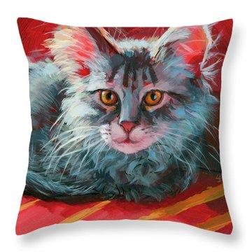 Little Meow Meow Throw Pillow