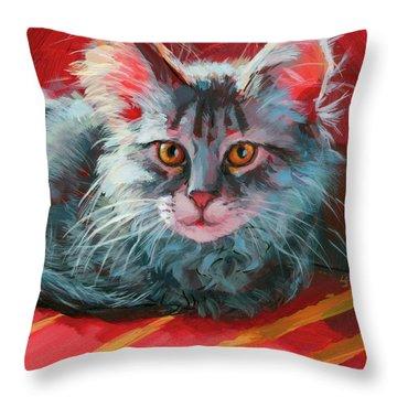 Little Meow Meow Throw Pillow