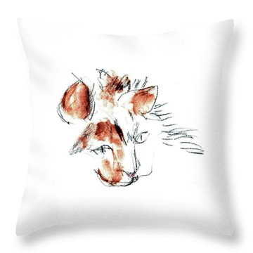 Little Merph - Cats Throw Pillow