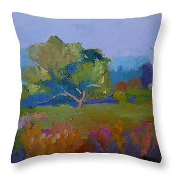 Throw Pillow featuring the painting Little Miami Meadow by Francine Frank