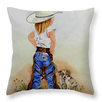 Little Miss Big Britches Throw Pillow