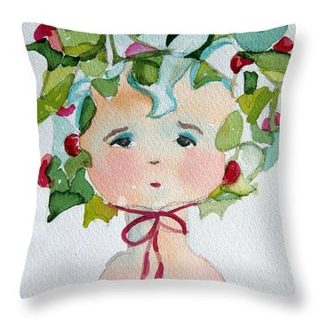 Little Miss Innocent Ivy Throw Pillow by Mindy Newman