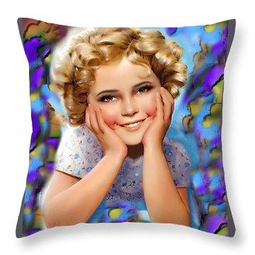 Little Miss Shirley Throw Pillow