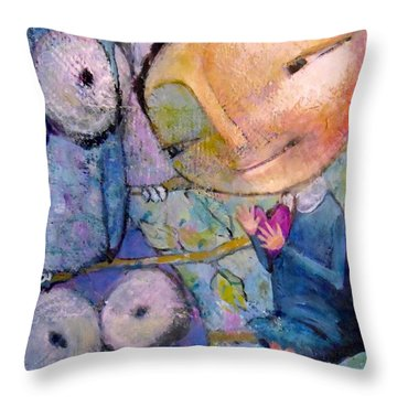 Little Miss Wise Heart Throw Pillow