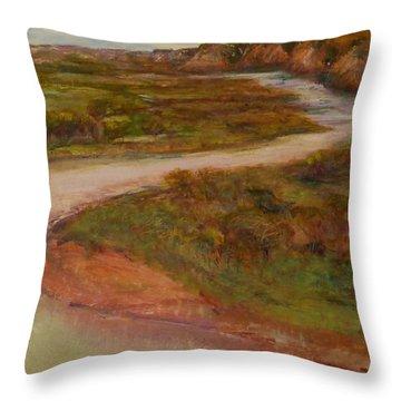 Little Missouri Overlook  Throw Pillow