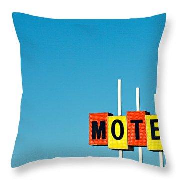 Little Motel Sign Throw Pillow