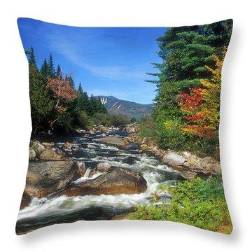 Little Niagra Falls Baxter State Park Throw Pillow