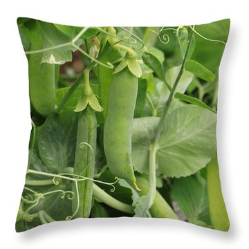 Throw Pillow featuring the photograph Little Peas Of Summer by Rick Morgan