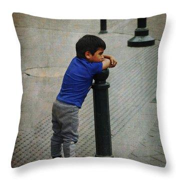 Little Peruvian Boy Throw Pillow