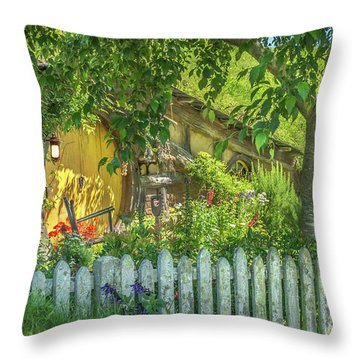 Little Picket Fence Throw Pillow