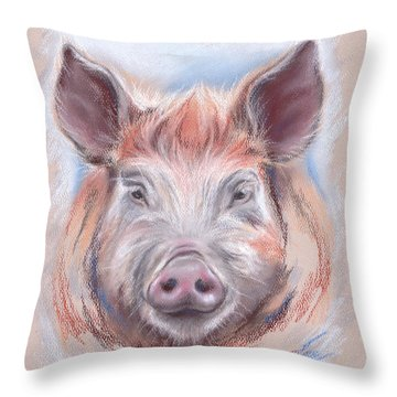 Little Pig Throw Pillow by MM Anderson