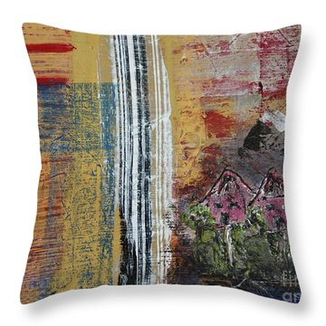 Throw Pillow featuring the painting Little Pink Houses by Kim Nelson