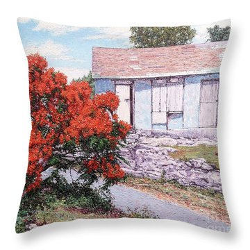 Little Poinciana Throw Pillow