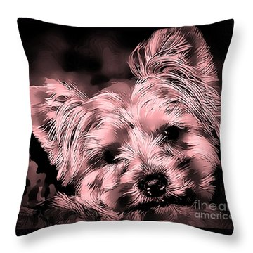 Little Powder Puff Throw Pillow