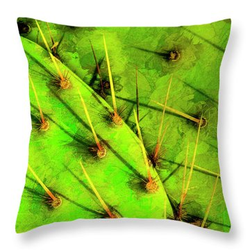 Prickly Pear Throw Pillow by Paul Wear