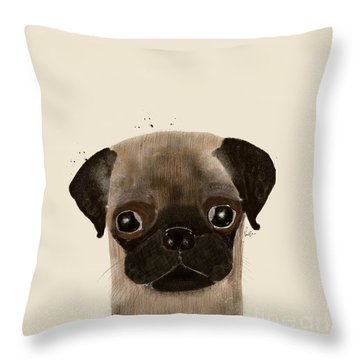 Throw Pillow featuring the photograph Little Pug by Bri B