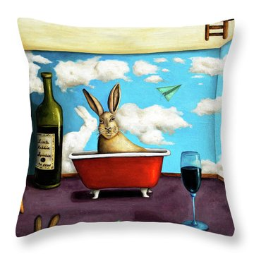 Little Rabbit Spirits Throw Pillow