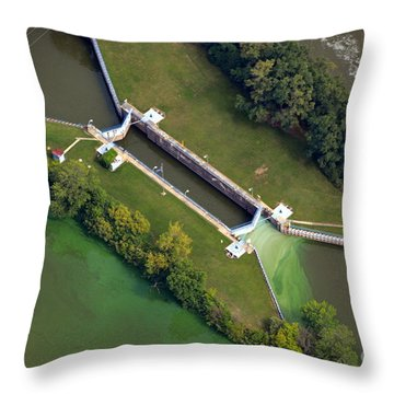 Little Rapids Lock Throw Pillow by Bill Lang