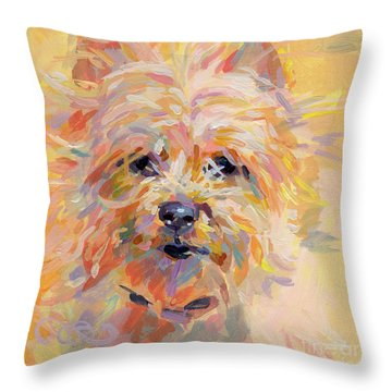 Little Ray Of Sunshine Throw Pillow by Kimberly Santini