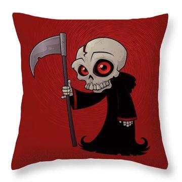 Little Reaper Throw Pillow