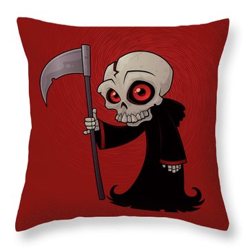 Little Reaper Throw Pillow by John Schwegel