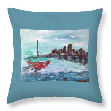 Coast Throw Pillow by Roxy Rich