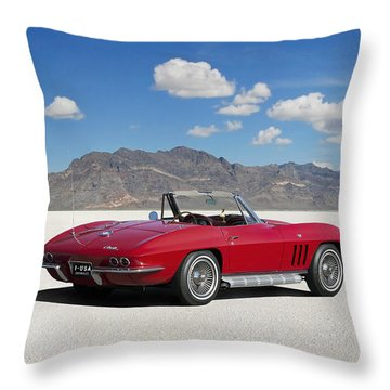 Throw Pillow featuring the digital art Little Red Corvette by Peter Chilelli