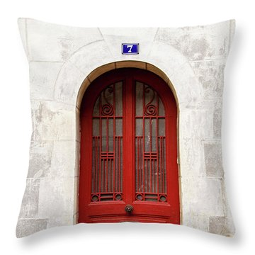 Throw Pillow featuring the photograph Little Red Door by Melanie Alexandra Price