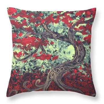 Little Red Tree Series 3 Throw Pillow