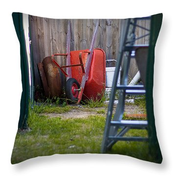 Throw Pillow featuring the photograph Little Red Wagon by Tim Nichols