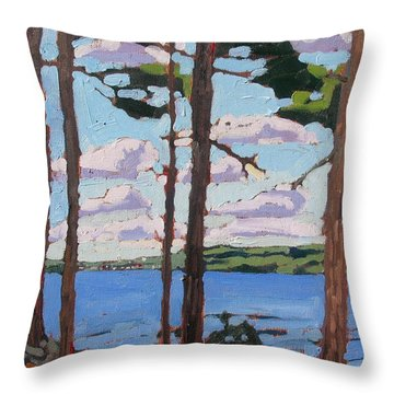 Little Rideau Lake Throw Pillow