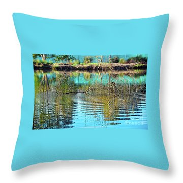 Throw Pillow featuring the photograph Little Ripples By Kaye Menner by Kaye Menner