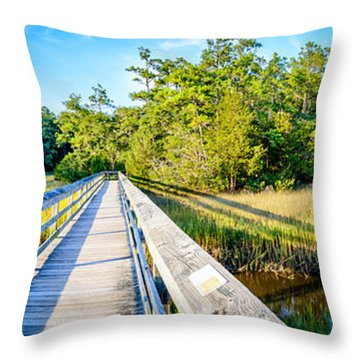 Little River Marsh Throw Pillow